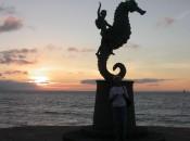 Sunset on Puerto Vallarta's malecon