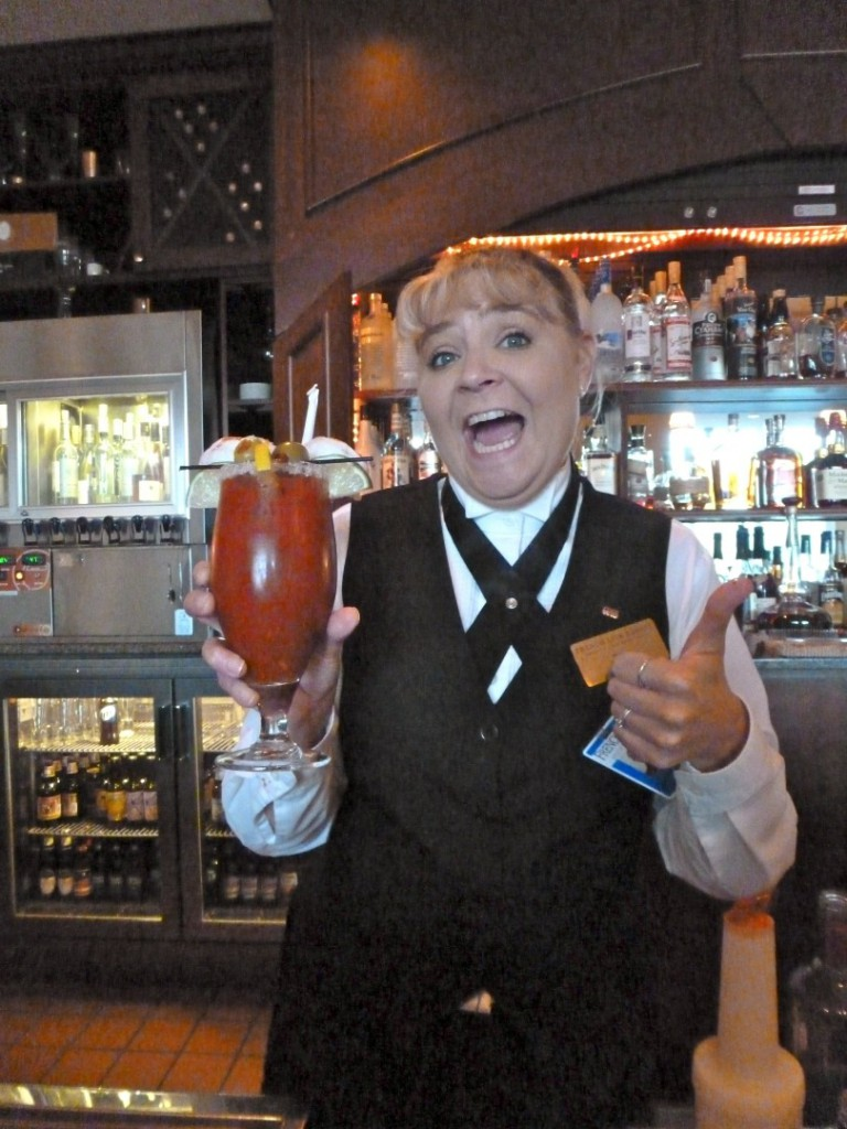 Tomi Parker serves her 1875 Bloody Mary