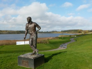 Faldo's sculture at Loch Erne