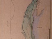 Donald Ross drawing of Whitinsville's ninth hole. (Courtesy Whitinsville GC)
