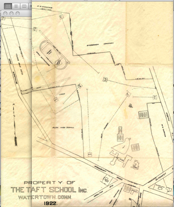 1922 Taft Survey Map