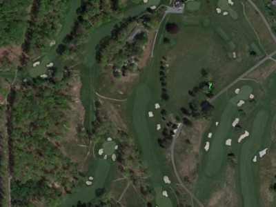 An aerial view of a portion of the Meadow Brook Club in Jericho, N.Y. following a Brian Silva renovation.