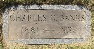 The headstone of Charles Henry Banks. (Photo by Anthony Pioppi)