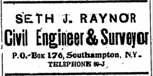 "The advertisement that ran in the ""Southampton (N.Y.) Press"" for more than a decade."
