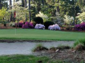 The 18th green at Mid-Pines