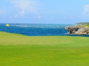 The 18th green at Corales, climax of El Codo del Diablo