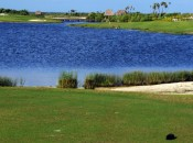 There are lots of ways to play No. 7 at Riviera Cancun, but they all involve water