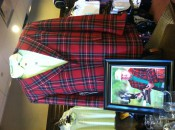 Pettersson's new tartan jacket is now on display in the TPC Wakefield pro shop.
