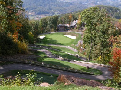 Mountain Air's famed 10th hole, a par-3, drops more than 200 feet.