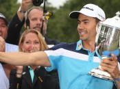 Camilo Villegas celebrated his first PGA Tour win in four years with a Wyndham Championship selfie.