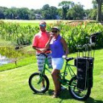 "Golfers playing Palmetto Dunes's trio of award-winning courses can now pedal from hole to hole aboard the revolutionary new ""Golf Bike."""