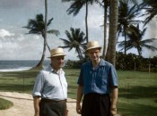 Robert Trent Jones and Laurance Rockefeller at Dorado Beach in the '50s
