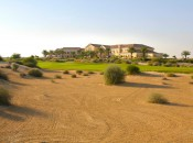 The ninth hole at Arabian Ranches.