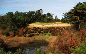 "The fifth at Hirono, with its large, deep bunkers -- dubbed ""Alisons"" in honor of their creator."