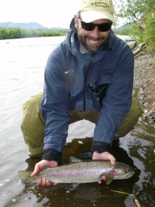 "A fine ""leopard rainbow"" from the Kanektok, one of the famed rivers flowing into Bristol Bay."
