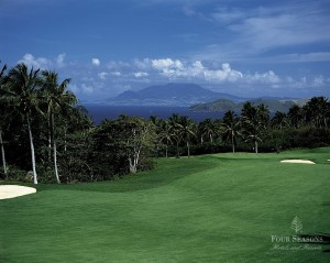 The weather is always balmy at the Four Seasons resort on the island of Nevis.