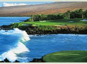 The famed #3 at Mauna Kea, a 260 yard carry from the back tee!