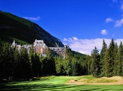 The hotel and golf course at Banff Springs