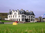 Our first stop off the airplane was The Ugadale Hotel at The Village at Machrihanish Dunes, on the ruggedly beautiful Kintyre Peninsula.  This historic hotel only recently re-opened after a multi-million dollar roof-to-foundation renovation, and it is as comfortable as it is grand.  It was the perfect home base for the group to begin its examination of golf in this part of Scotland.