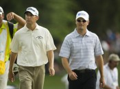 The 2009 PGA Teacher of the Year, Mike Bender (left) with prize pupil Zach Johnson