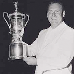 Rainstorms and quirky strategy were part of the story as Casper came out on top in the 1959 Open