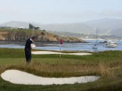 Ernie Els played the 17th hole five-over and finished two back. Copyright USGA/John Mummert