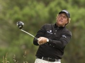 Phil Mickelson is riding high after a 64 to win at Pebble Beach. Photo copyright Icon SMI.