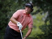 Phil Mickelson's stated strategy was odd, but his execution may have really been to blame for his costly triple bogey on Masters Sunday. Photo copyright Todd Kirkland/Icon SMI.