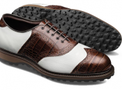 Allen Edmunds Legend White Karagrain Brown Croc