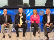 "PGA of America president Ted Bishop, developer Donald Trump, Hall of Fame member Annika Sorenstam, former USGA executive director David Fay at the ""State of the Industry Panel"""