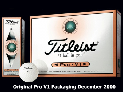 First Pro V1 out in Dec 2000