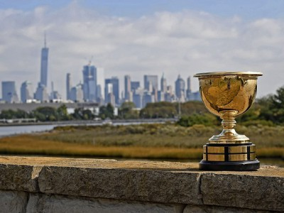 JERSEY CITY, NJ - OCTOBER 3:  Course scenics of Liberty National Golf Club, host course of the 2017 Presidents Cup in Jersey City, New Jersey on Ocotber 3, 2016. (Photo by Chris Condon/PGA TOUR)