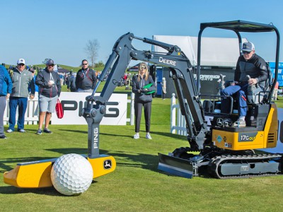 The PING/John Deere exhibit during DEMO day at Orange County National Golf Center on January 21, 2020 in Winter Garden, Florida. (Photo by Scott Halleran/PGA of America)