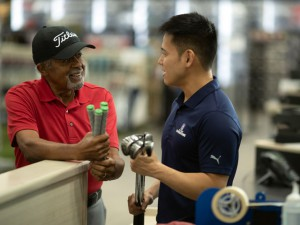 One of the many services is regripping by trained employees in the in-store workshop. (PGA TOUR Superstore)