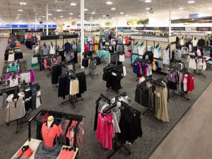 A major portion of the display space in PGA TOUR Superstores is apparel and footwear. (PGA TOUR Superstore)