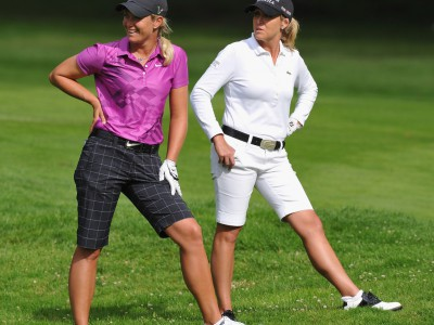 Cristie Kerr (r.) defeats Suzann Pettersen on 2nd playoff hole of LPGA&#039;s Kingsmill Championship (Photo: Stuart Franklin/Getty Images Europe)