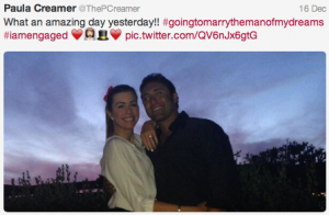 Paula Creamer announces her engagement via Twitter