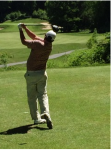 Jason Dufner kicks off charity golf event at Crumpin-Fox Club (Photo: Emily Kay)