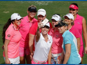 Morgan Pressel & Friends gather for a selfie during 8th annual Morgan & Friends Fight Cancer tournament (Photo: Scott Halleran/Getty Images)