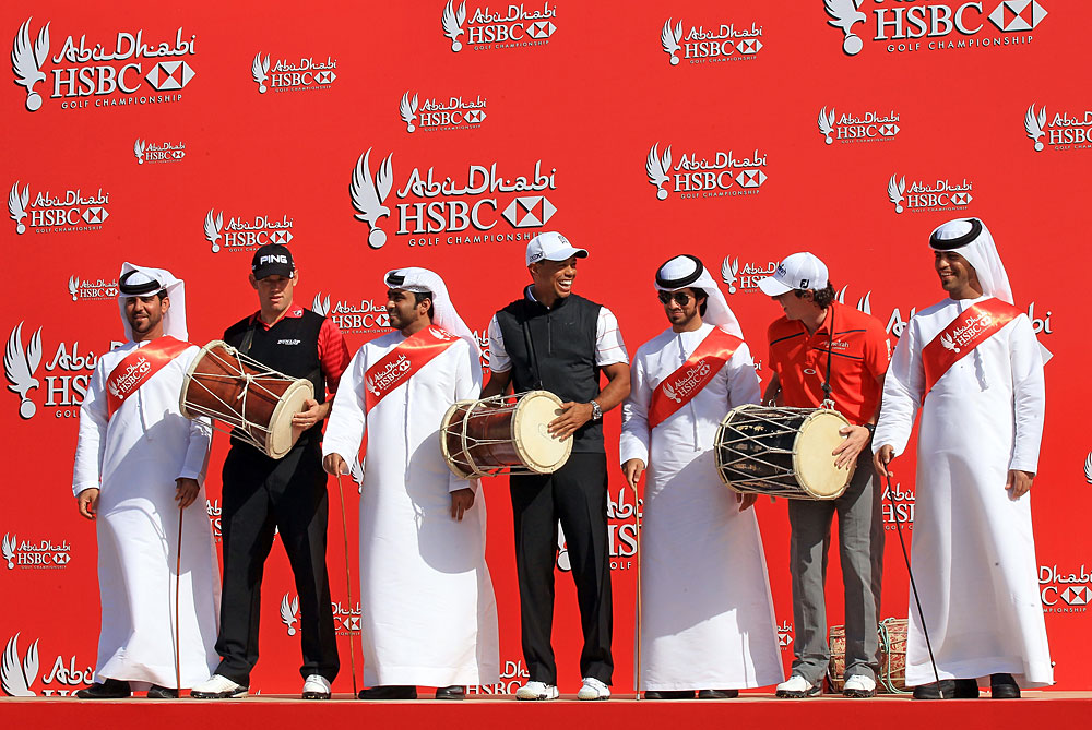 Abu Dhabi with Tiger Woods and Lee Westwood