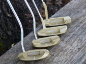 Barber Pole Golf's line of brass putters