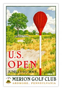 Justin Rose has autographed 100 posters of his 2013 U.S. Open victory