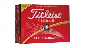 The Titleist DT TruSoft golf ball