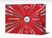 Callaway's Chrome Soft ball with Dual SoftFast Core technology.