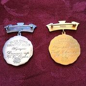 H. Chandler Egan's medals from the 1904 Olympics