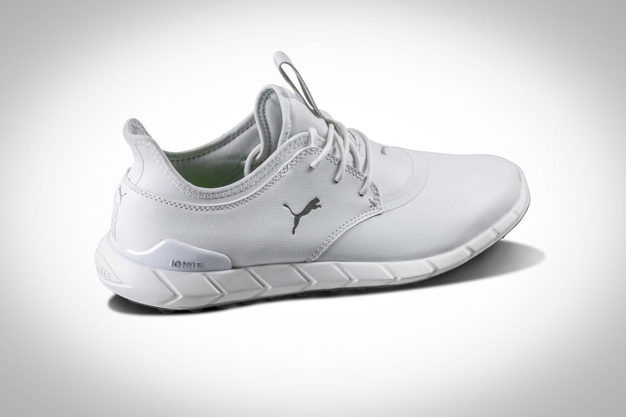 a25dd3ceb78b85 TITANTOUR IGNITE HI-TOP – $220 New for this season, Puma Golf has its  Hi-Top in an all-white colorway. The TITANTOUR and IGNITE cushioning  platform, ...