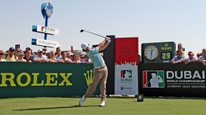 Rory McIlroy at the 1st tee