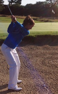 blue bunker backswing1cropped