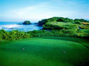 The 7th at Nirwana needs no hype. Note Tanah Lot temple at left.