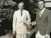 George von Elm (left) and Billy Burke, combatants in the longest U.S. Open every contested..